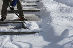 Shavling śnieg fotografia stock