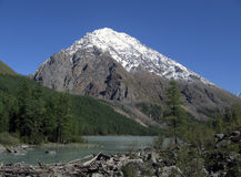 Shavlinskoe lake. In Altai Mountain, Siberia, Russia royalty free stock photography