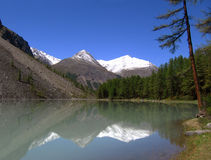 Shavlinskoe lake. In Altai Mountain, Siberia, Russia Stock Photos