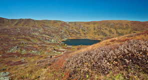 Shavlinskoe lake in the Altai mountains Stock Images