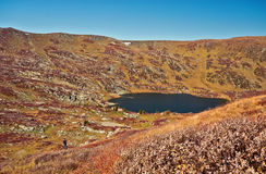 Shavlinskoe lake in the Altai mountains Royalty Free Stock Images