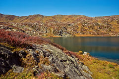 Shavlinskoe lake in the Altai mountains Stock Image