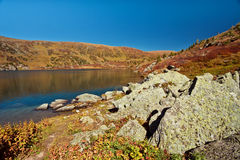 Shavlinskoe lake in the Altai mountains Stock Photography