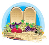 Shavuot. Talent to Jews of a Torah on mount Sinai at the Outcome from Egypt Stock Photography