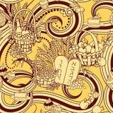 Shavuot bezszwowy deseniowy tło Obrazy Royalty Free