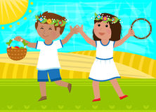 Shavuot Dance Royalty Free Stock Photo