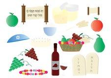 Shavuot judiska feriecliparts Royaltyfri Illustrationer