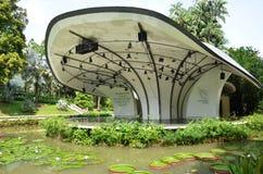 Shaw Foundation Symphony Stage dans les jardins botaniques de Singapour Image stock