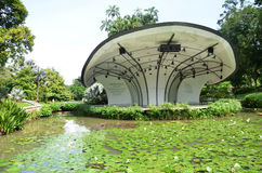 Shaw Foundation Symphony Stage dans les jardins botaniques de Singapour Photographie stock