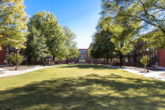 Shaw Hall and Quad at UNCG stock images