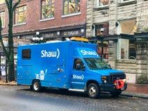 Shaw Teletechnicznej usługi ciężarówka fotografia stock