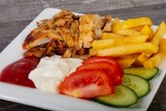 shawarma в плите Стоковое Изображение RF
