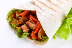 Shawarma в хлебе пита Стоковые Фотографии RF