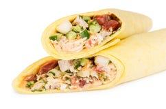 2 Shawarma при цыпленок изолированный на белизне Стоковое Изображение RF