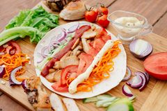 Shawarma Стоковые Фотографии RF