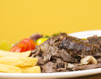 Shawarma Beef Plate closeup Royalty Free Stock Images