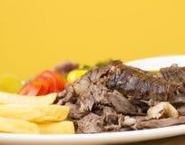 Shawarma Beef Plate closeup Royalty Free Stock Images