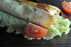 Shawarma with chicken Royalty Free Stock Photography