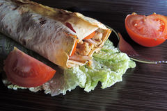 Shawarma with chicken Stock Photography