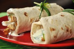 Shawarma close-up Royalty Free Stock Photos
