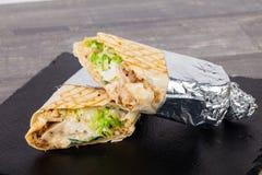 Shawarma com carne fotografia de stock