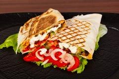 Shawarma com carne imagens de stock