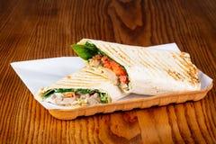 Shawarma com carne de porco imagem de stock royalty free