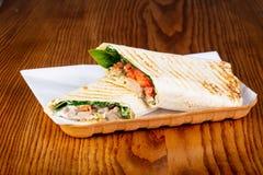 Shawarma com carne de porco imagens de stock royalty free