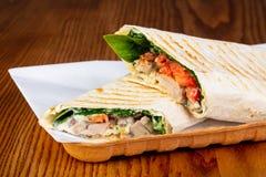 Shawarma com carne de porco fotos de stock royalty free