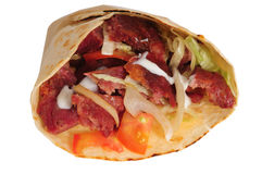 Shawarma. D'isolement photo stock