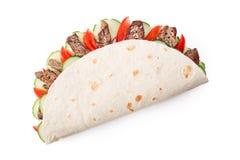 Shawarma de la carne de vaca aislado Imagen de archivo libre de regalías