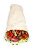 Shawarma de la carne de vaca aislado Foto de archivo