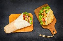 Shawarma and Doner Kebab Royalty Free Stock Photography