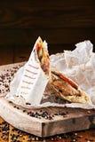 Shawarma i pitabröd Royaltyfria Bilder