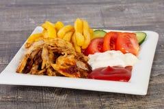 shawarma i platta royaltyfri foto