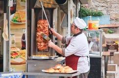 Shawarma istanbul kalkon Royaltyfri Bild
