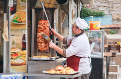 Shawarma. Istanbul. Turkey Royalty Free Stock Image