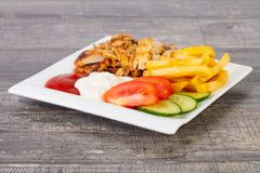 shawarma na placa foto de stock