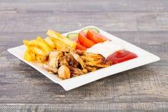 shawarma na placa imagem de stock