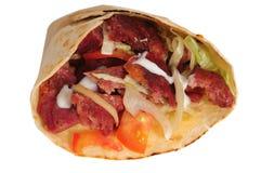 Shawarma. Odosobniony Zdjęcie Stock