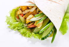 Shawarma in pita bread Stock Image