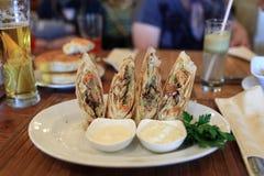 Shawarma on plate Stock Photos