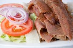 Shawarma on a plate Royalty Free Stock Photos