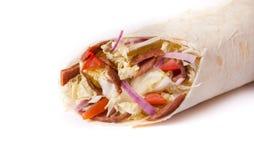 Shawarma preparado fresco foto de archivo