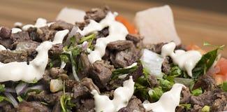 Shawarma-Rindfleisch-Platte lizenzfreies stockbild