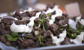 Shawarma-Rindfleisch-Platte lizenzfreies stockfoto