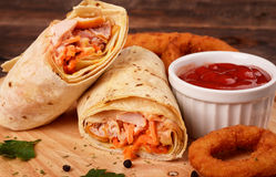 Shawarma or shawurma Royalty Free Stock Image
