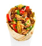 Shawarma sur un fond blanc image libre de droits