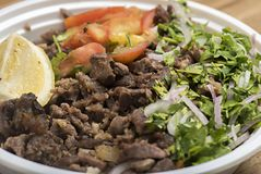 Shawarma wołowiny talerz Zdjęcie Stock
