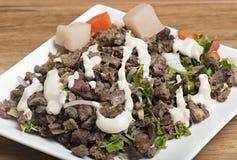 Shawarma wołowiny talerz Zdjęcia Royalty Free